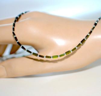Kette Halskette Collier Turmalin Kristall grün 925er Sterlingsilber
