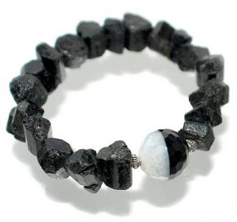 Armband Schörl Geoden Achat