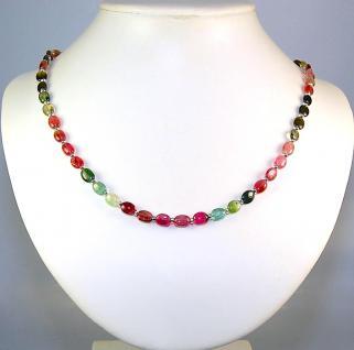 Kette Halskette Collier Turmalin A Qualität 925er Sterlingsilber