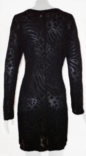 Caren C. Kleid transparent in schwarz - Vorschau 2