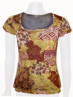 Rose Capa Shirt kurzarm in ockertönen