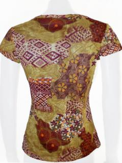 Rose Capa Shirt kurzarm in ockertönen - Vorschau 4