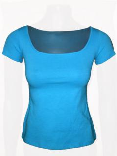 Claude Zana Shirt kurzarm in himmelblau