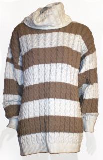 Hurra, gestreifter Rollkragen-Pullover - Vorschau 1