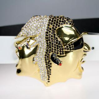 Iced Out Bling Gürtel - MAN & WOMAN FACE gold - Vorschau
