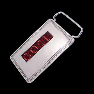 Mini LED Digital Name Belt Buckle rot - Vorschau