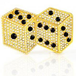 Iced Out Bling Gürtel - DOUBLE DICE gold 1