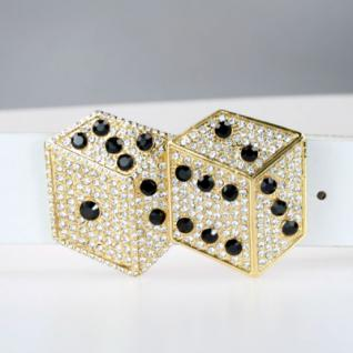 Iced Out Bling Gürtel - DOUBLE DICE gold 2