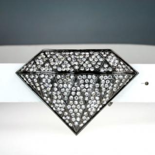 Iced Out Bling Gürtel - 346 STONES DIAMOND schwarz