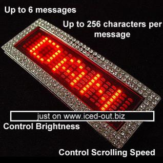 ICED LED Red Scrolling Text Name Digital Belt Buckl - Vorschau