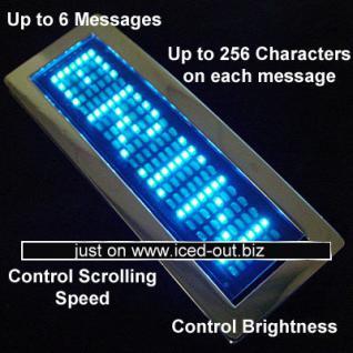 LED Blau Scrolling Text Name Digital Belt Buckle - Vorschau