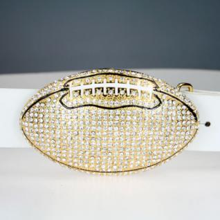 Iced Out Bling Gürtel - AMERICAN FOOTBALL gold