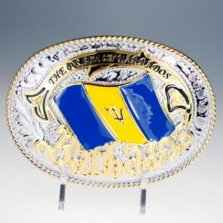 Iced Out Bling Gürtel - BARBADOS gold / silber