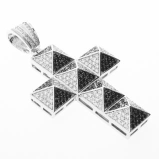 Iced Out Bling MICRO PAVE Anhänger - PYRAMID KREUZ
