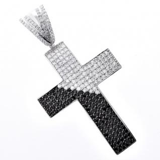 Iced Out Bling MICRO PAVE Anhänger - DIAGONAL KREU 1