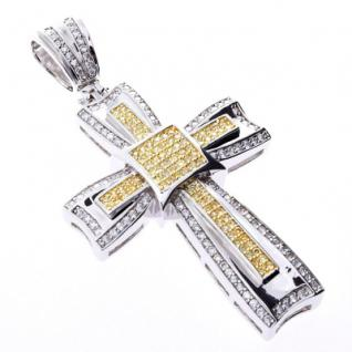 Iced Out Bling MICRO PAVE Anhänger - CANARY KREUZ