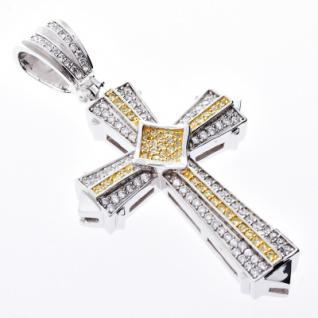 Iced Out Bling MICRO PAVE Anhänger - CANARY CROSS - Vorschau