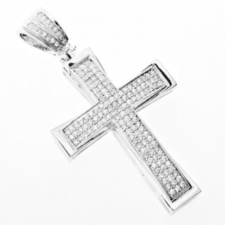 Iced Out Bling MICRO PAVE Anhänger - CLASSIC CROSS