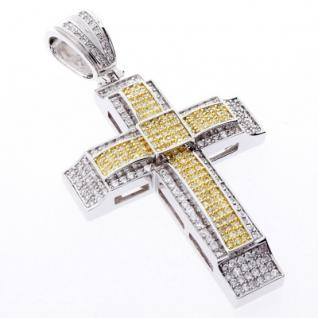Iced Out Bling MICRO PAVE Anhänger - CANARY KREUZ 1