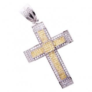 Iced Out Bling MICRO PAVE Anhänger - CANARY KREUZ 2