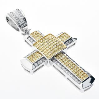 Iced Out Bling MICRO PAVE Anhänger - B.I.G. KREUZ