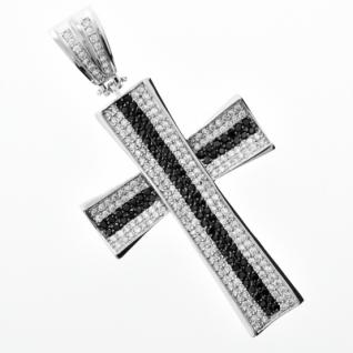 Iced Out Bling MICRO PAVE Anhänger - STRIPE CONCAV