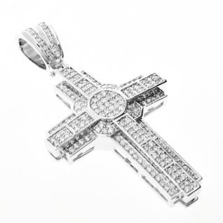 Iced Out Bling MICRO PAVE Anhänger - SPACE KREUZ