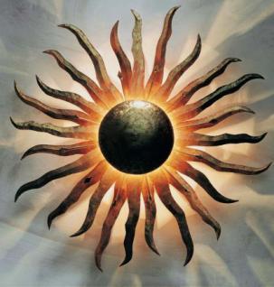Wandlampe Sonne