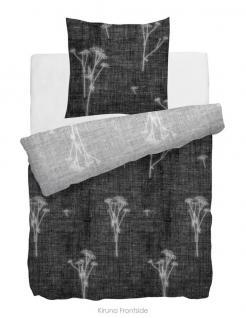 HnL Velvet Touch Bettwäsche Kiruna schwarz / weiß