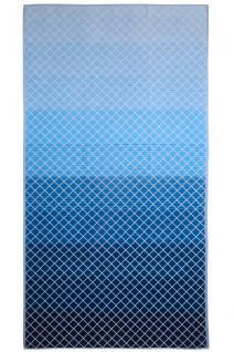 JMA Luxus Strandlaken Arkhiepelagos X398 Denim blue Velour-Frottee