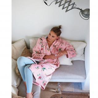 PiP Damen Bademantel Granny PiP pink mit Kapuze