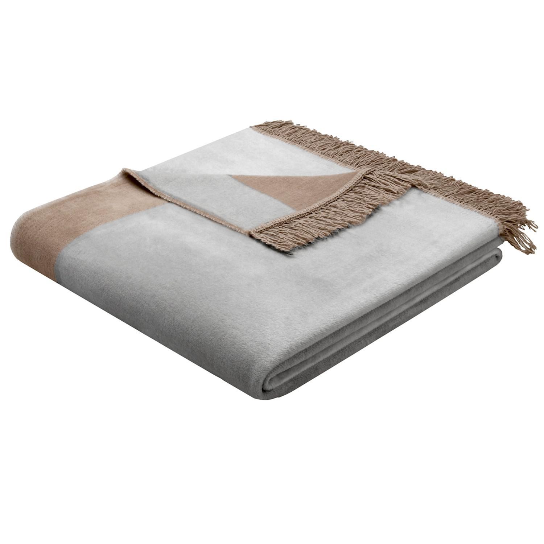 biederlack decke orion cotton plus 150x200cm silber kaufen bei wohntextilien 4you e k. Black Bedroom Furniture Sets. Home Design Ideas