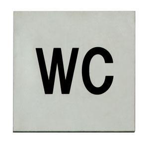 Edelstahl Piktogramme - WC - Piktogramm Hinweisschild