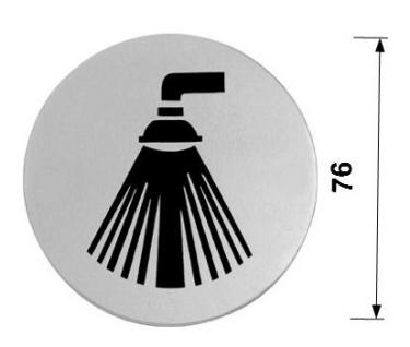 Edelstahl Piktogramme - DUSCHE - Piktogramm Hinweisschild - Vorschau 2