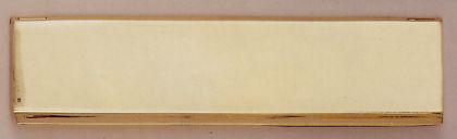 Messing Briefklappe KLAGENFURT / Briefeinwurf Briefschlitz