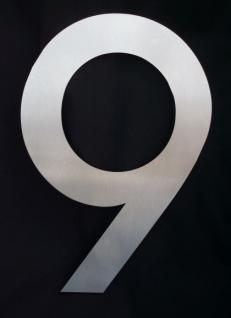 Edelstahl Hausnummer MAXI 3XL - Nr. 9 / Hausnummern