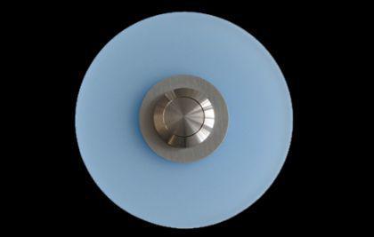 Edelstahl / Plexiglas Klingelplatte DÜSSELDORF - iceblue / Türklingel Klingeltaster Klingel Klingelschild - Vorschau 1