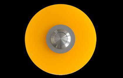 Edelstahl / Plexiglas Klingelplatte DÜSSELDORF - mandarin / Türklingel Klingeltaster Klingel Klingelschild