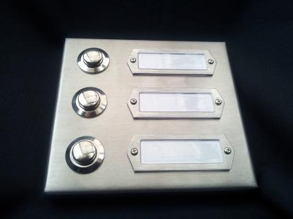 erfurt 3 edelstahl t rklingel klingel klingeltaster klingelplatte klingelschild made in. Black Bedroom Furniture Sets. Home Design Ideas