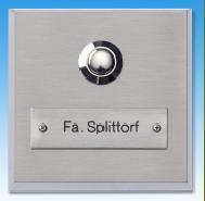 Aufputzklingelplatte FRANKFURT, Aufputz-Klingelschild, Aufputzklingel, Aufputz-Klingel, Aufputz-Klingelplatte, Aufputztürklingel,