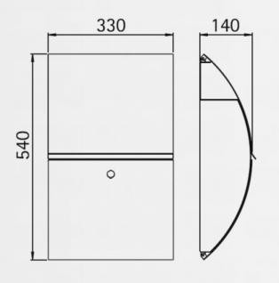 edelstahl briefkasten hessen typ 2 mit integriertem. Black Bedroom Furniture Sets. Home Design Ideas