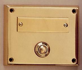 Messing Aufputzklingelplatte MK-1005, Messing Klingelschild, Aufputzklingel, Aufputz-Klingel, Aufputz-Klingelplatte, Aufputztürklingel,
