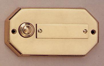 Messing Aufputzklingelplatte MK-1007, Messing Klingelschild, Aufputzklingel, Aufputz-Klingel, Aufputz-Klingelplatte, Aufputztürklingel,