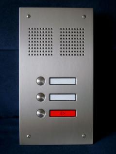 Edelstahl Türstation PLATIN-SG 3WE - Klingeltableau