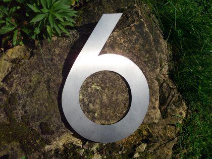 Edelstahl Hausnummer MAXI 3XL - Nr. 6 / Hausnummern - Vorschau 2