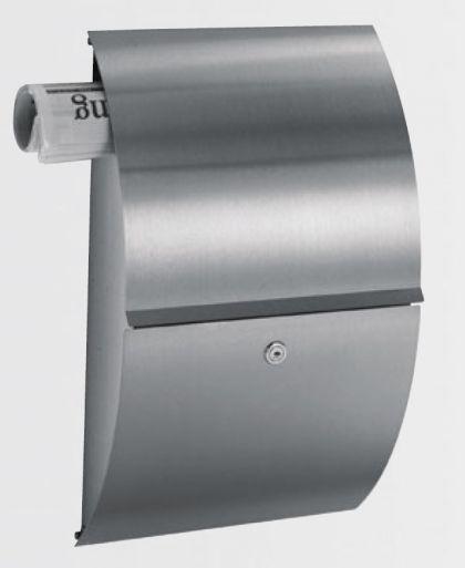 edelstahl briefkasten hessen typ 2 mit integriertem zeitungsfach zeitungshalter. Black Bedroom Furniture Sets. Home Design Ideas