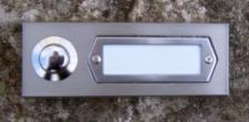 FLENSBURG-1 / Türklingel Klingel Klingeltaster Klingelplatte Klingelschild Aufputz