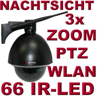 Apexis J902 IP Netzwerk Dome Kamera WLAN Funk Zoom PTZ Nachtsicht