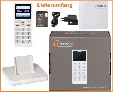Grandfone Seniorenhandy SOS Notruftaste Grosse Tasten Rentner Handy Bluetooth Simlock-Frei - Vorschau 3