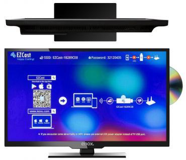 "Enox LL-0119ST2 19"" 47cm LED TV 12V 24V Fernseher Luxury Line Serie DVD Player DVB-S2 DVB-T2 DVB-T Bluetooth - Vorschau 3"